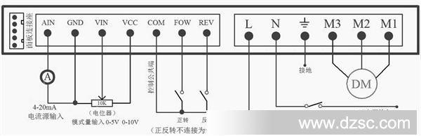 变频调速电机的接线图,主要是那发电机的三根线给变频器的是什么
