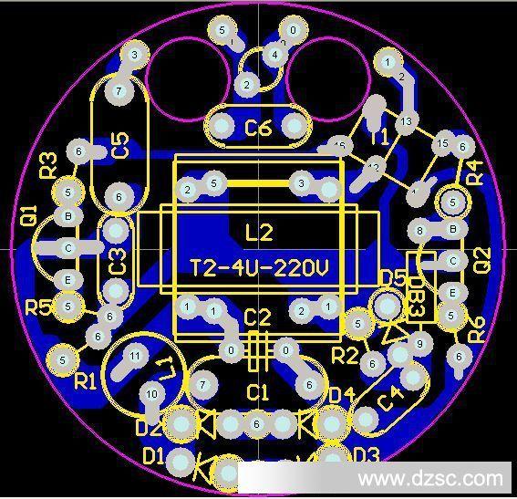 7mm-4u节能灯线路板pcb