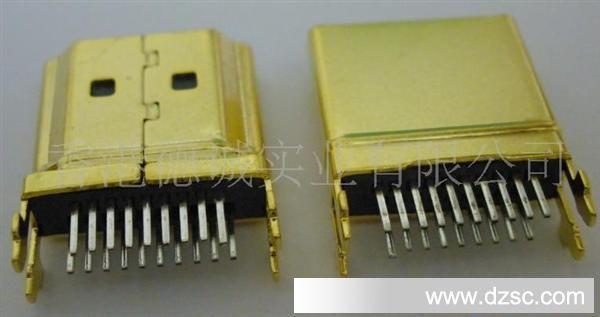 �9���ea�d)_hdmi a type夹板式连接器 外壳镍镀镀金 hdmi转接头用