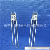 长期LED发射管 8MM平头无边七彩快闪 专业提供