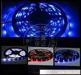 汽车LED装饰灯条 多色 5M 红蓝绿色彩色 5米 300SMD 3528软条灯