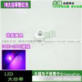 台湾晶元正芯 1W/1瓦大功率led灯珠粉红色 粉光超高亮 10只起拍