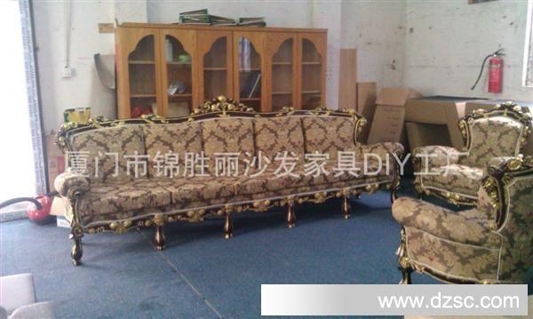 木雕花品牌欧式沙发卡座
