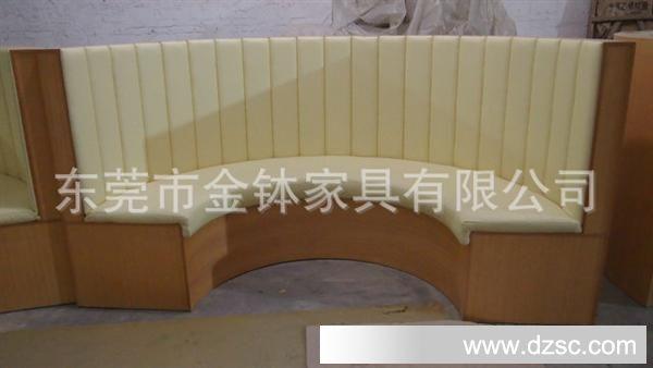 金钵供应半圆形沙发 弧形卡座 定做餐厅沙发 皮艺卡座 jb-ff511