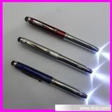 厂家直销金属电容笔 触屏圆珠笔 LED灯笔 手写笔 触控圆珠笔
