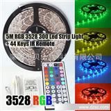 RGB 3528贴片LED灯条柔性防水300 + 44键的红外遥控!LED灯带12V