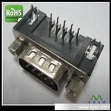 DR9P公头叉锁90度插板式移动硬盘盒通讯连接器 环保产品