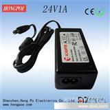 24W   24V1A  桌面式电源适配器