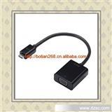 MINI HDMI转VGA线 hdmi to vga 高清电视转模拟 带芯片
