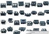 华�NAC-01电动车充电器插座/AC品字插座/三合一保险丝插座
