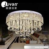 奢华水晶现代吸顶灯客厅灯圆形LED吸顶灯水晶卧室灯餐厅灯具灯饰