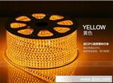 led贴片灯带七彩高压5050高亮防水SMD暗槽灯条客厅吊顶光带220v
