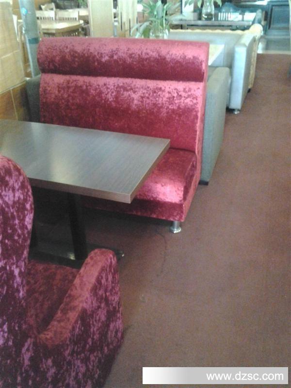 厂家直销单面双人绒布卡坐沙发/现代欧式酒店沙发