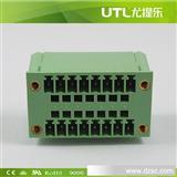 尤提乐 MB1.5H/VF3.81 双排弯针 插拔式端子  PCB端子