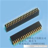直销俊腾电子2.54mm双排母座 镀金环保 U型端子 塑高7.1 2*40P