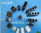 【沈槟电子现货直销】F3/3MMLED灯座 单孔间隔柱 一位固定座 LED支架 黑色 隔离柱 ∮3  LED 90度间隔柱