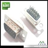 VGA端子HDB连接器VGA15P公头黑胶焊线式带UL+CAS厂家专业订做