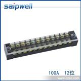 厂家TBC-6012接线端子排 固定式接线板TB-6012 12位铜接线柱
