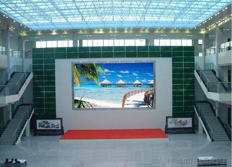 四川成都强力巨彩P2.5室内全彩LED显屏安装