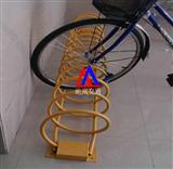 圆环形不锈钢自行车架 螺旋型自行车架