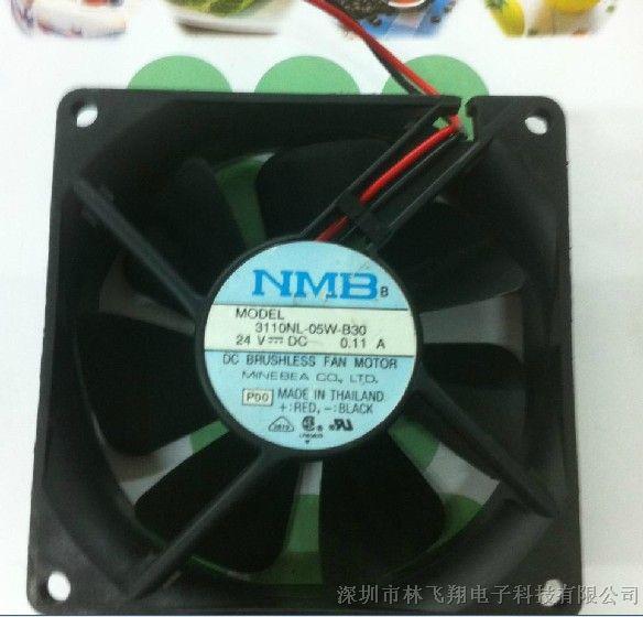 费nl�a�yn��`�_nmb 3110nl-05w-b30 dc24v 0.11a 8025散热风扇
