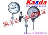 天津双金属温度计,管道温度现场只读,指针温度计WSS