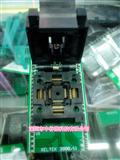 IC芯片测试座 QFP48P转DIP48P 编程器适配座烧录芯片转接座带翻盖