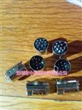 DIN插头S端子10P 10针信号插头连接器MIDI公头10芯PS2公座焊接头