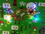 圣诞电池盒灯串 7彩自闪成衣灯串 发光抱忱、发光公仔LED机芯工厂