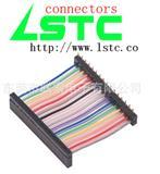 2.54mmIDC彩排线,2.54单排IDC连接器