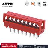连接器厂家直供AMP215570,1.27红色IDC连接器,线对板连接器