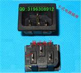 方形三针机柜嵌入式插座 卡式接线插座 直脚 弯脚 品字公头插