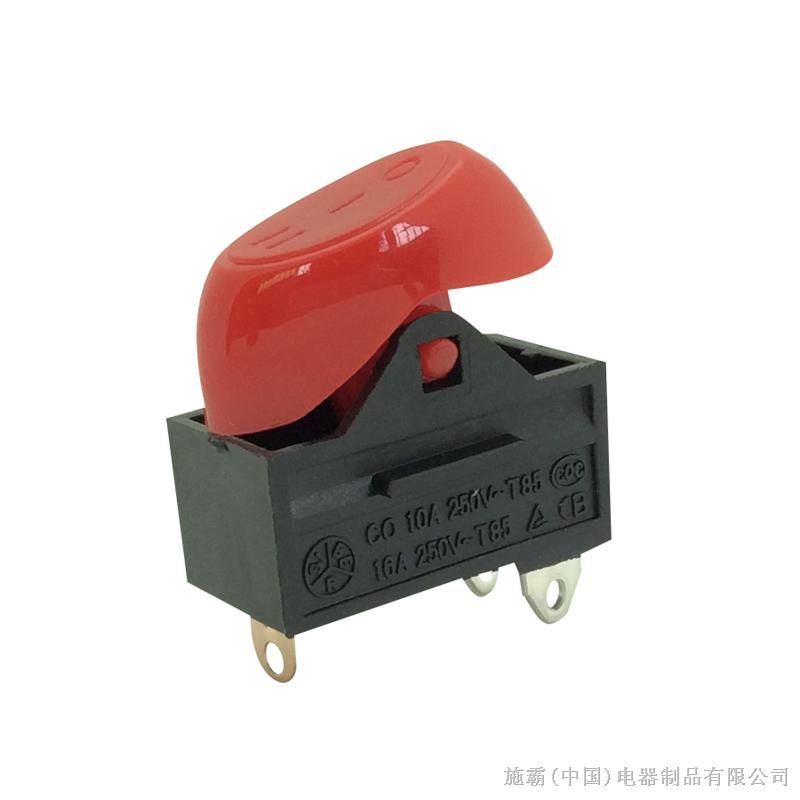 供应7a250v 半圆形电吹风翘板开关,可做红,黑,灰各种颜色面盖图片
