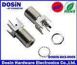 F型射频连接器,焊板式F母头,F型同轴连接器