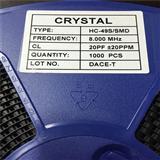 石英晶体贴片晶振8MHZ SMD 49S