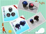 按钮开关20MM 圆头自复位 插孔脚 IP65防水 可带红灯 绿灯 蓝灯