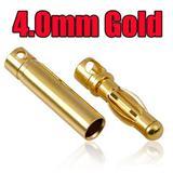 厂价直销 4.0mm防氧化镀金香蕉插头,子弹金插 模型电池插头