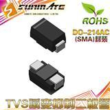 SMAJ5.0A 单向 TVS管 / TVS瞬变抑制二极管/瞬态抑制管/瞬变二极管/瞬态抑制二极管 400W 5V/抗浪涌TVS