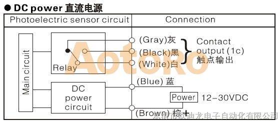 e3jk-r4d2光电开关接线图