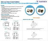 泰艺超低相噪石英振�U器OX-U系列  可应用于汽车多媒体,汽车雷达,DAC和ADC的音响