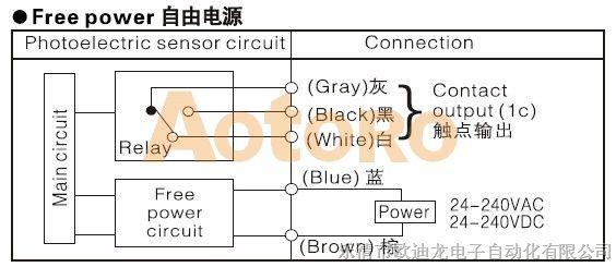 ek50-ds30m1光电开关接线图
