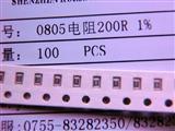 0805  200R  1% RS Pro RS 系列 厚膜表面安装电阻器 0805 封装 200Ω ±1% 0.125W ±100ppm/°C
