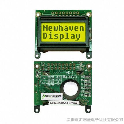 汇创佳电子分销NHD-0208AZ-FL-YBW