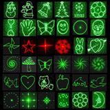 激光灯手电草坪灯雾灯专用光栅片十字线激光灯头定位专用可做各种图案单图多合一