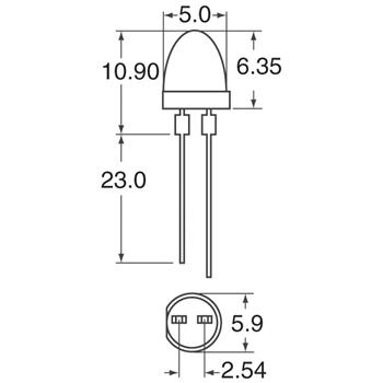 HLMP-3490外观图