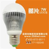 航空铝材+PC罩-LED7W鳍片球泡灯