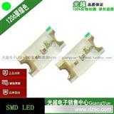 1206翠绿灯 超高亮翠绿/纯绿 LED贴片发光管 SMD二极管灯珠