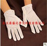 厂家批发防静电点胶手套 防静电条纹防滑手套-鼎盛达