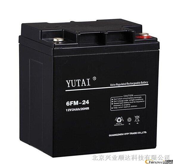 供应宇泰YUTAI 6FM-24 12V24AH蓄电池