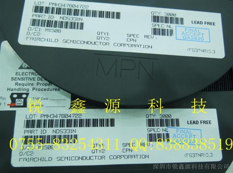 NDS331N NDS331N-NL NDS331 MOSFET N沟道 场效应管